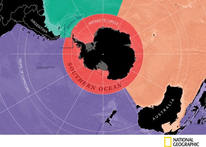 Південний океан: новий п'ятий океан на планеті Земля
