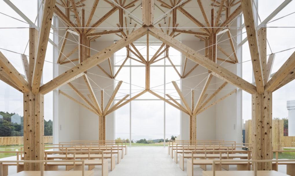 Японці збудували експериментальну церкву з ілюзією лісу (ФОТО)