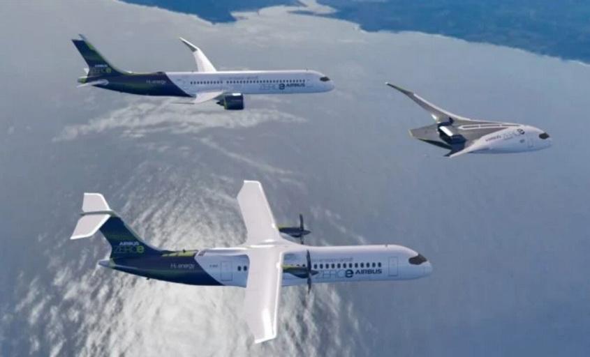 Airbus збудує водневий літак із нульовим рівнем викидів, є 3 концепти (ФОТО)