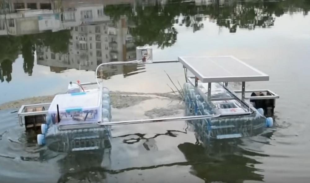 Український студент створив робота для очищення водойм від сміття (ВІДЕО)